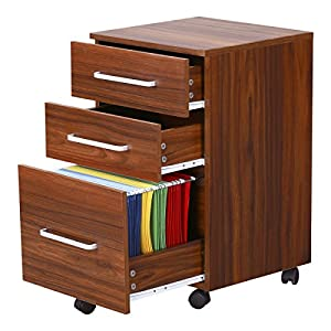 devaise 3 drawer wooden file cabinet with wheels 15 7 inch x 15 7 inch x 25 8 inch. Black Bedroom Furniture Sets. Home Design Ideas