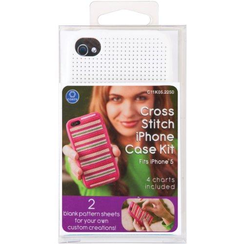 Coats Thread & Zippers iPhone 5 Case Counted Cross Stitch Kit, (Clarks Crochet Coat)