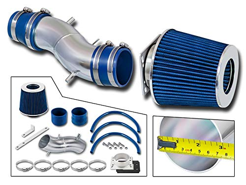 Rtunes Racing Short Ram Air Intake Kit + Filter Combo BLUE Compatible For 91-99 Nissan Sentra / 93-97 Nissan Altima