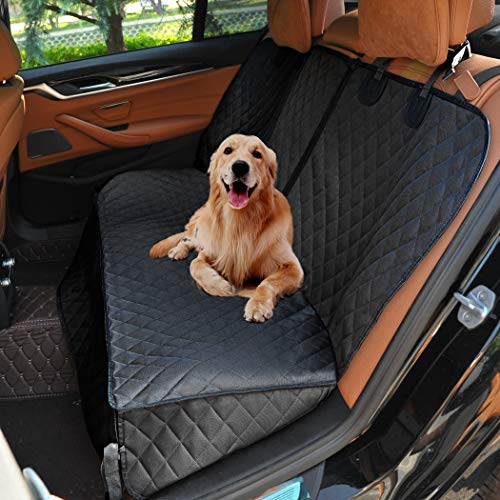 Henkelion Dog Seat Cover Back Seat Covers for Dogs,100% Waterproof Nonslip Beach Dog Car Seat Cover for Cars with Armrest Fits Cars Trusks SUVs Black by Henkelion (Image #9)