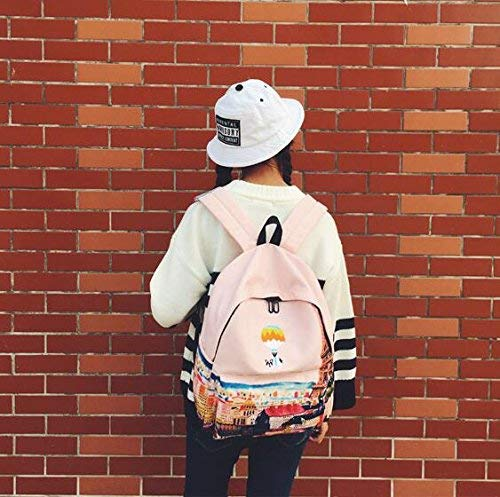 GXIAN Home Personality Backpacks Creative Inkjet Landscape Animal Pattern Travel Backpack Student Schoolbag -