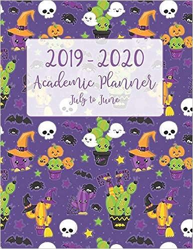 Halloween 2020 July Updates 2019   2020 Academic Planner July to June: Purple Halloween Cactus