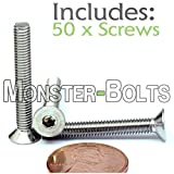 (50) M4-0.70 x 30mm (FT) - Stainless Steel Flat