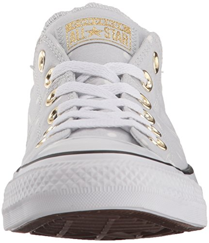 Mini Converse Donna Madison Basso Platinum Pure gold Dots white Profilo FaqZxw5a7