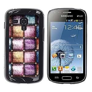 Be Good Phone Accessory // Dura Cáscara cubierta Protectora Caso Carcasa Funda de Protección para Samsung Galaxy S Duos S7562 // Watercolors Pastel Tones