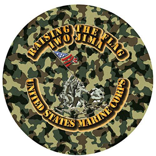 Readoormat USMC Iwo Jima Waterhog Non-Slip Doormat,Indoor/Outdoor,Skid Resistant,Easy to Clean 60cm(24inch)