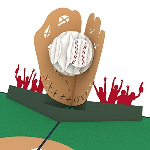 Lovepop Baseball Pop Up Card, 3D Card, Birthday Card, Greeting Card, Sports Card