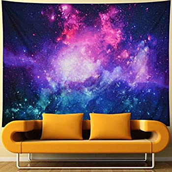 Amtoodopin Galaxy Tapestry Purple Starry Night Tapestry 3D Cosmic Space Tapestry Mystic Stars Tapestry Wall Hanging Psychedelic Hippie Tapestry for Ceiling Living Room Dorm Decor