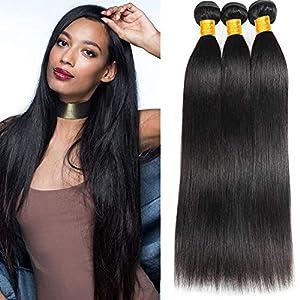 Newness 10A Peruvian Straight Hair 6 Bundles 100% Unprocessed Virgin Human Hair Weave Straight Human Hair Extensions 6…