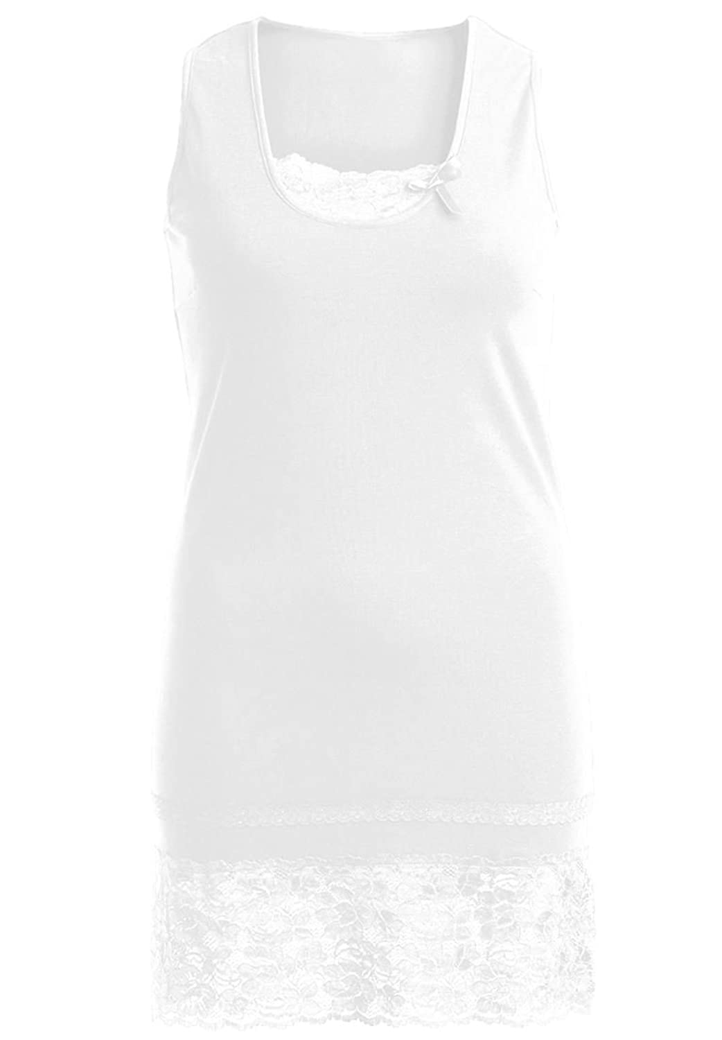 Ellos Women's Plus Size Top, Tank In Layered-Look With Lace From Ellos