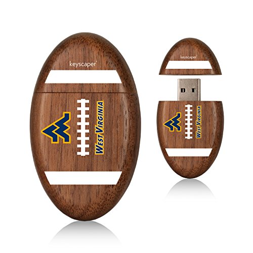 West Virginia Mountaineers 8gb Wood Football USB Drive NCAA (Stores In West Virginia)