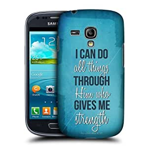AIYAYA Samsung Case Designs Strength Christian Inspired Protective Snap-on Hard Back Case Cover for Samsung Galaxy S3 III mini I8190