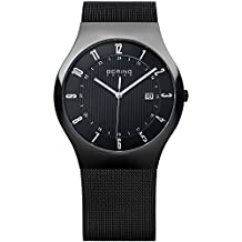 Bering Time Men's Solar Collection Watch with Mesh Band and scratch resistant sapphire crystal. Designed in Denmark. 14640-222 by Bering