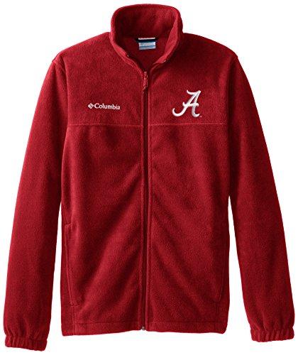 (NCAA Alabama Crimson Tide Collegiate Flanker II Full Zip Fleece Jacket, Red Velvet, Medium )