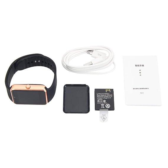 Reloj Inteligente Unisex GT08 con la función de la cámara Pulsera Deportiva Bluetooth Hombre Mujer Reloj