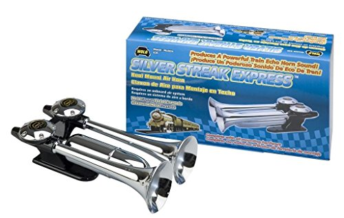 Wolo (835) Silver Streak Roof Mount Dual Trumpet Air (Silver Streak Express Horn)