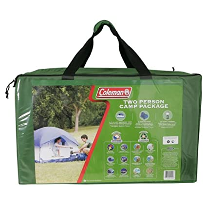 Coleman 2 Person C& Package with Tent 2 Sleeping Bags and Lantern  sc 1 st  Amazon.com & Amazon.com : Coleman 2 Person Camp Package with Tent 2 Sleeping ...