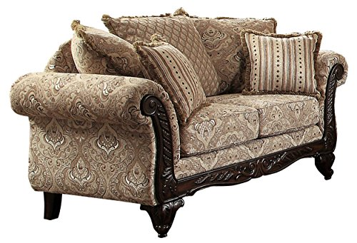 Homelegance Thibodaux Traditional Style Floral Loveseat, ()