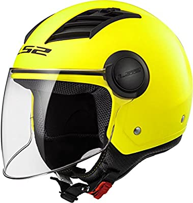 LS2-305625053L/162 : LS2-305625053L/162 : Casco jet abierto AIRFLOW L OF562 SOLID COLOR AMARILLO TALLA L