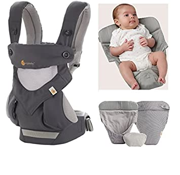 0610f1da93f Ergobaby 360 Baby Carrier Cool Air Carbon Grey including Cool Air Infant  Insert  Amazon.co.uk  Baby