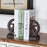 Cheap Industrial Gear Bookends Rustic Antique Steampunk Chic Decor Set of 2