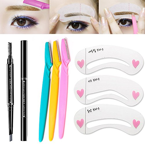 SHERUI Eyebrow Razor Trimmer , 6pcs a set Grooming Shavers Makeup Shaper for Men and Women