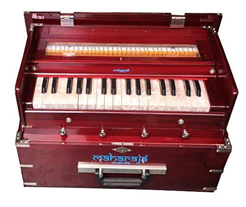 Maharaja Musicals, Kirtan Harmonium, Portable In-Flight Edition, Rosewood Color, Latest Model PDI-KH3