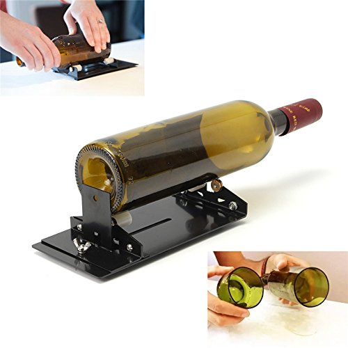 Funnytoday365 Glass Bottle Cutter Machine Cutting Tool Kit Diy Craft Cut Wine Jar Beer Recycle Wine Bottle Cutters Tool