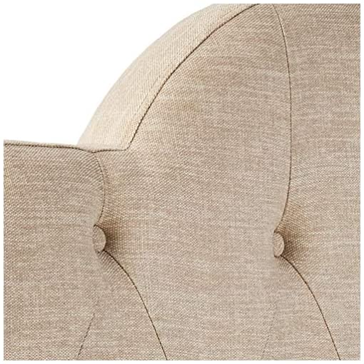 Bedroom Amazon Brand – Ravenna Home Haraden Modern Scroll-Topped Button-Tufted Queen Headboard, 62″W, Beige modern headboards