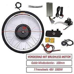 """26""""/ 28"""" 36V/ 48V 250W/ 1000W Kit di Conversione del Motore della Bici Elettrica della Ruota Anteriore Mozzo della Ruota della Bici Elettrica Anteriore Mozzo della Bici della Bicicletta Anteriore Kit del Motore della Bici Elettrica della Ruota Anteriore 1 spesavip"""