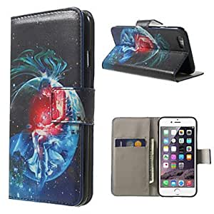 QHY Scorpio Pattern PU Leather Full Body Case with Stand and Card Holder for iPhone 6