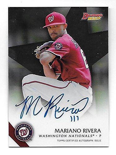 MARIANO RIVERA 2015 Topps Bowman's Best of 15 Auto Autograph #B15-MR Nationals ()