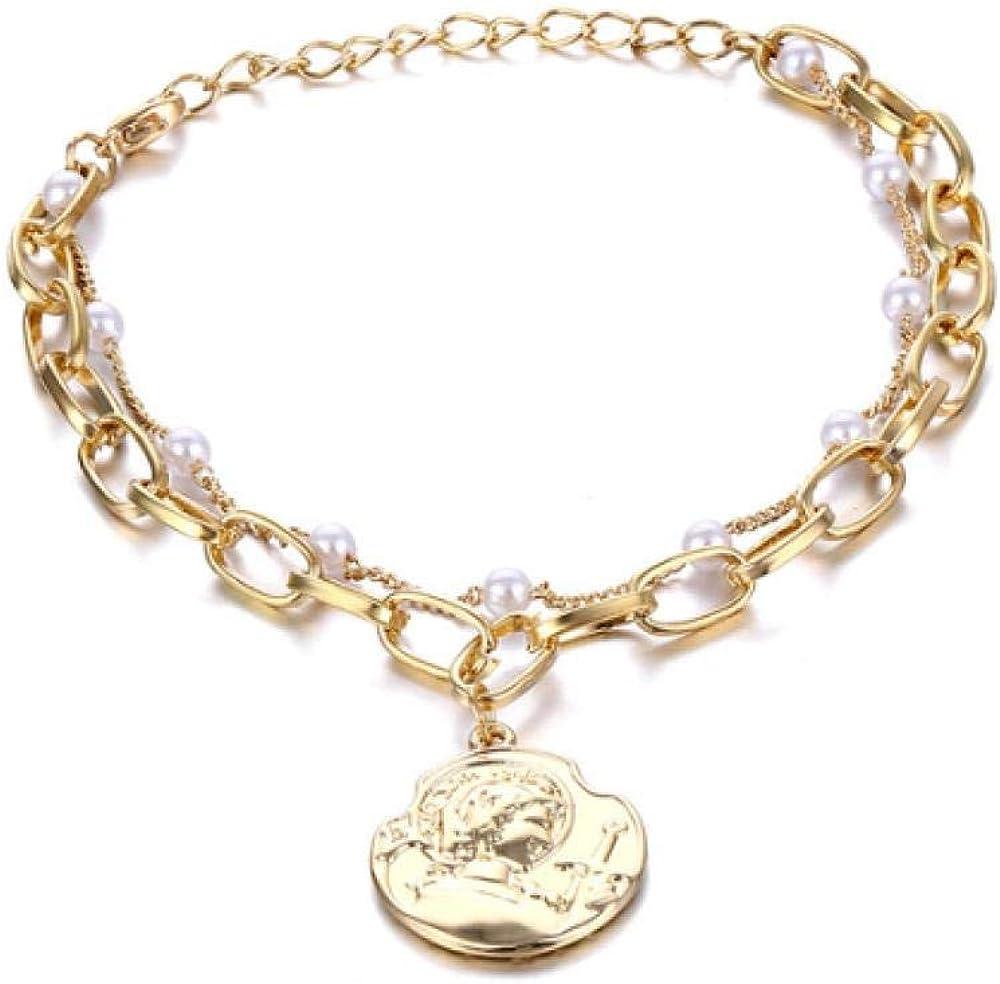 QIEERNN Pulsera De La Joyería Pulsera Colgante Pulsera De Perlas Pulsera De Encanto Delicado para Mujer