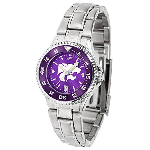 Kansas State Wildcats Competitor Steel AnoChrome Women's Watch - Color Bezel