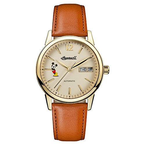 Ingersoll Women's Automatic Stainless Steel and Leather Casual Watch, Color:Brown (Model: ID01101)