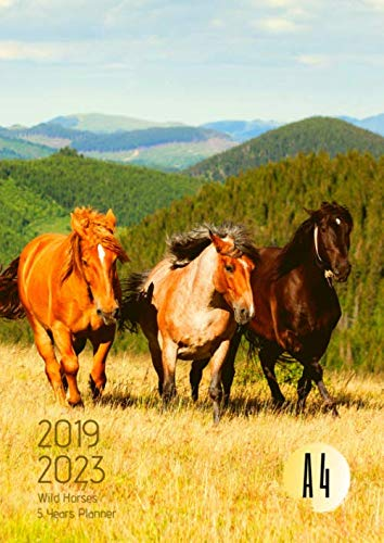 - 2019-2023 Five Year Planner A4 Wild Horses Goals Monthly Schedule Organizer: 60 Months Calendar; Agenda Appointment Diary Journal With Address Book, ... Notes, Julian Dates & Inspirational Quotes