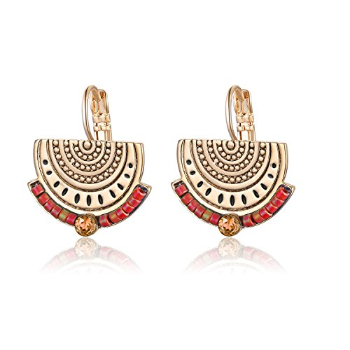 Earrings Boho Vintage Beaded Gypsy Copper Gold Plating Earring for Women and girls ()