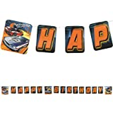 Hot Wheels Happy Birthday Kid's Birthday Party High Speed Letter Banner 8ft