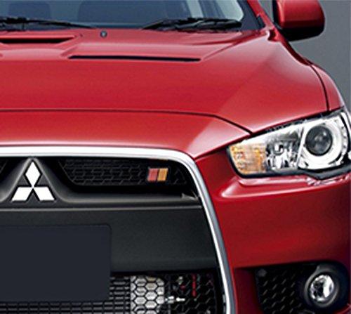 Lancer Evolution Hd Walpaper: JDM Ralliart Black/Red/Orange Front Mesh Grill Grille