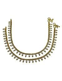 Banithani Traditional Indian Ethnic Anklet Bracelet Women Bollywood Anklett Jewelry
