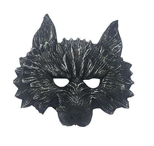 Masquerade Wolf Mask (EBTOYS Wolf Head Mask Masquerade Mask for Halloween and Cosplay Costume Party)