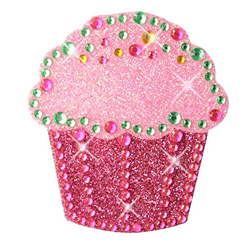 Sticker Bling Bling Gemz Crystal Rhinestone Pink Cupcake Perfect for Phone, Gear or as a Gift