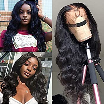 Image of Health and Household ALI RAIN Body Wave Lace Front Wig Human Hair Wigs For Women Pre Plucked Brazilian Body Wave Virgin Hair Glueless Lace Front Human Hair Wig 13x4 Lace Frontal Wigs Human Hair 150% Density (20 inches)