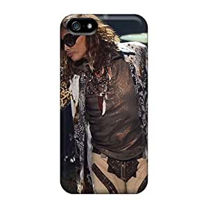 Shock Absorbent Hard Phone Cover For Iphone 5/5s With Provide Private Custom Beautiful Aerosmith Band Pattern JasonPelletier