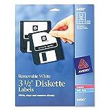 Avery Media Labels (AVE6490), 3-1/2'' Diskette Labels 15 labels per sheet, 375 labels total