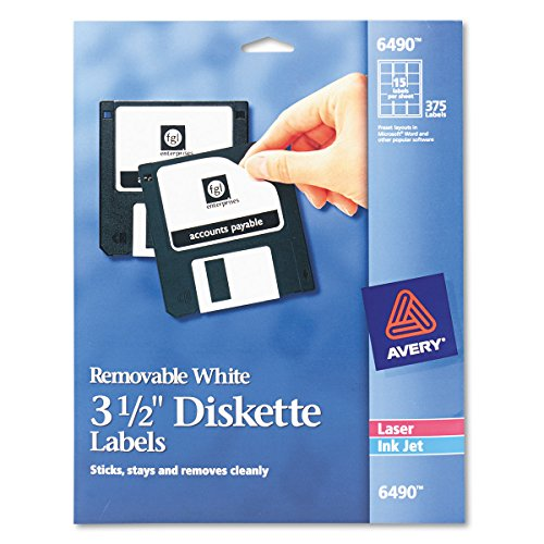 3.5 Diskette Labels - Avery Media Labels (AVE6490), 3-1/2