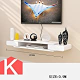 HOMEE Tv Cabinet Set - Top Box Shelves Living Room Tv Wall Background Wall Hanging Bedroom Partitions Wall Decoration (Multiple Styles Available),K