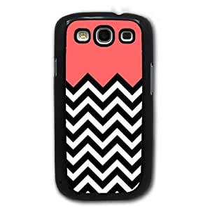 Bereadyship For Galaxy S3 Case - Coral Plus Chevron for Samsung Galaxy i9300 Case Snap On Case