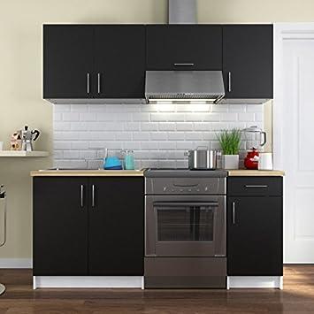 Paris Prezzi - Cucina Completa Maria 180 cm Nero: Amazon.it: Casa e ...