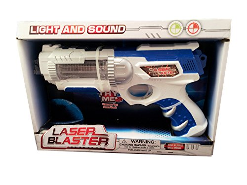 Laser Blaster Toy Space Gun with Light and Sound Batteries (Laser Blaster)